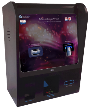 Pin-2-Card kiosk voor Casino's